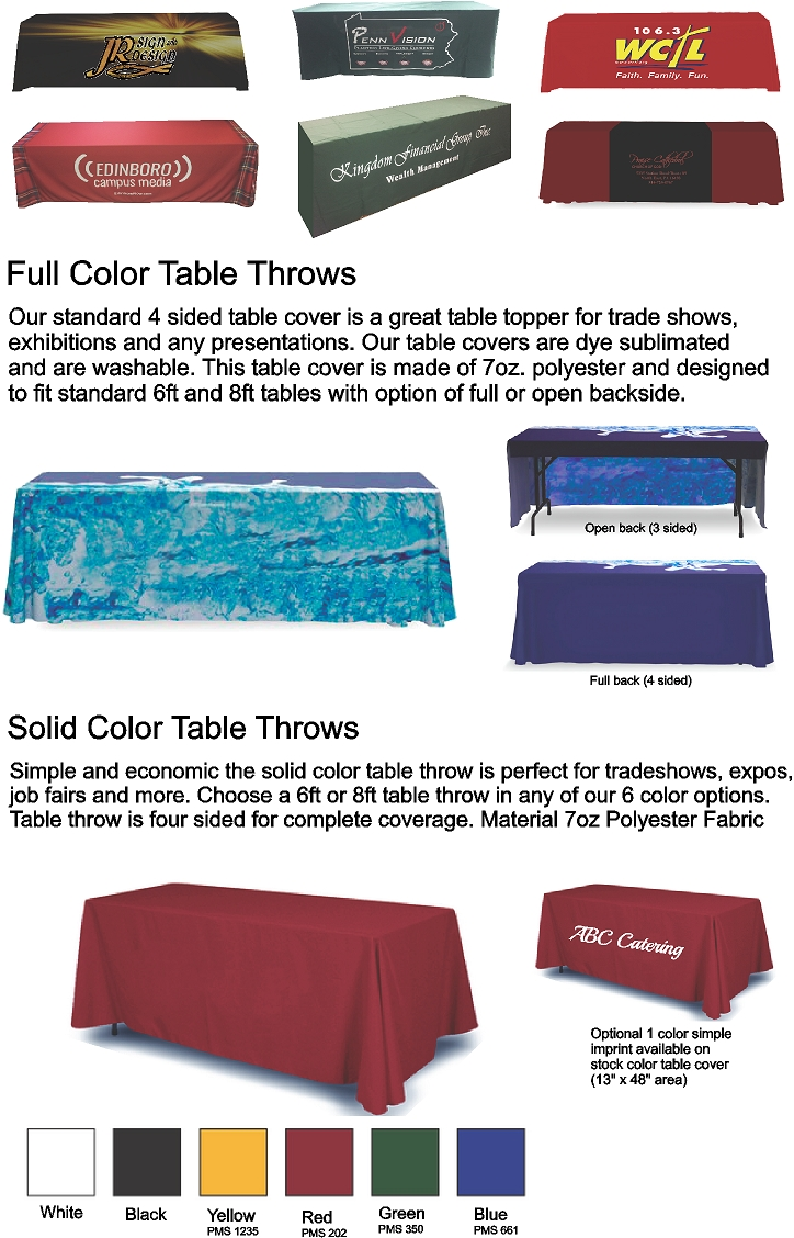 Web Table Covers